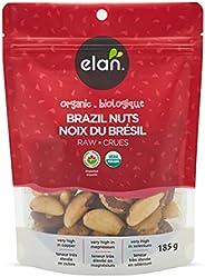 ELAN Organic Raw Brazil Nuts, Non-GMO, Vegan, Gluten-Free, Kosher, 185g