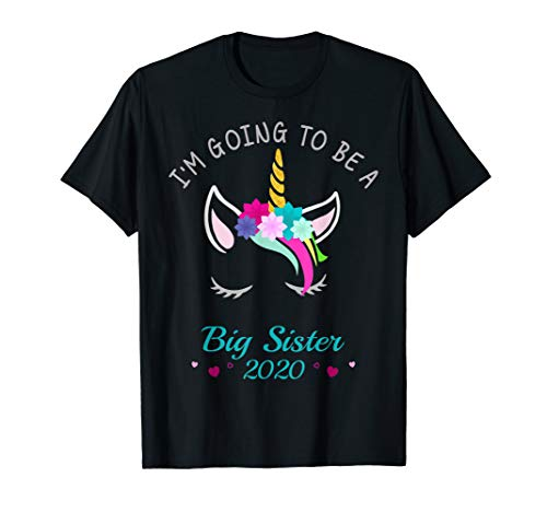 - Promoted to Big Sister 2020 Unicorn T-Shirt for Girls