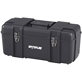black plastic tool box. waterloo portable series tool box made with lightweight industrial-strength plastic, 20\ black plastic