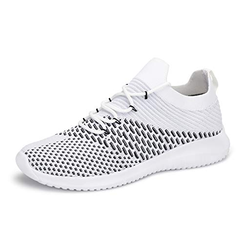 Mishansha Womens Lightweight Breathable High Top Walking Running Fitness Dance Sports Sneakers White