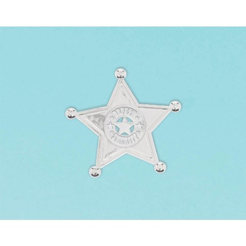 Sheriff Badges Party Favors Set of 8]()