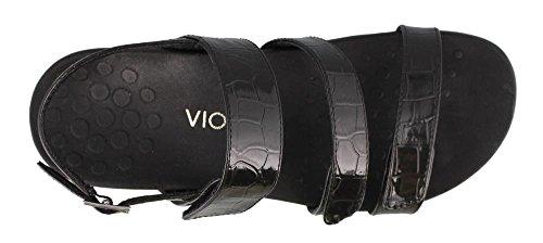 Negro Orthaheel por Vionic sandalias correa Teagan nU5Xg4