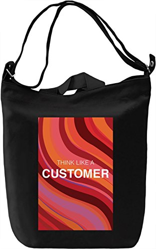 Think like a customer Borsa Giornaliera Canvas Canvas Day Bag| 100% Premium Cotton Canvas| DTG Printing|