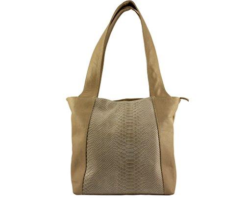 a cuir lio cuir style à sac lio sac lio python cuir cuir sac sac Plusieurs sac main souple main Coloris Italie Sac cuir Taupe femme lio Lio cuir v4gUaUq8