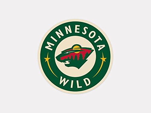 """NHL Minnesota Wild 21972010 Perfect Cut Color Decal, 4"""" x 4"""", Team color"""