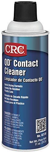 CRC QD Plastic Safe Liquid Contact Cleaner, 11 oz Aerosol Can, Clear