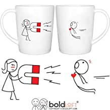 BOLDLOFT You Are Irresistible His and Hers Coffee Mugs- Couple Mugs Set, Valentines Day Gifts for Boyfriend for Husband, Matching Gifts for Couples, His and Hers Gifts, Valentines Gifts for Him