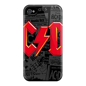 AlissaDubois Iphone 4/4s Shock Absorbent Hard Cell-phone Case Custom Trendy Red Hot Chili Peppers Series [iOx4402nfch]
