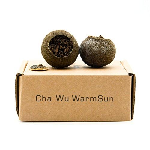 Cha Wu-[AA] Mini-Citrus Ripe Pu erh Tea,5 Count/Box,Origin of China,Fragrant Citrus with Ripe Puer Smooth!