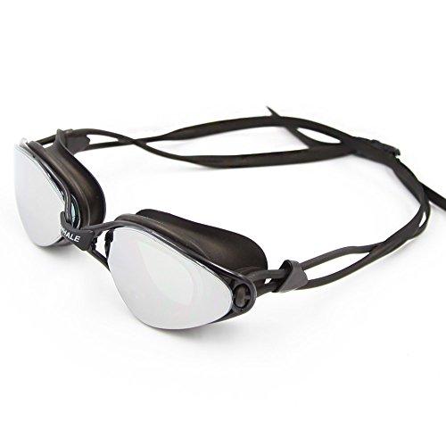 Globaldeal Direct Lentilles de lunettes de natation antibuée pas de fuites protection UV Lunettes de natation