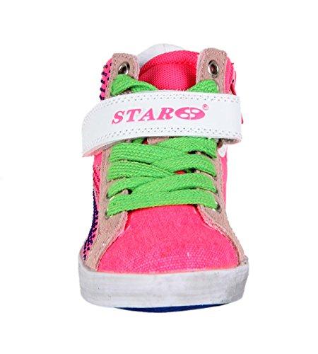 Baskets strasses - fuchsia - fille