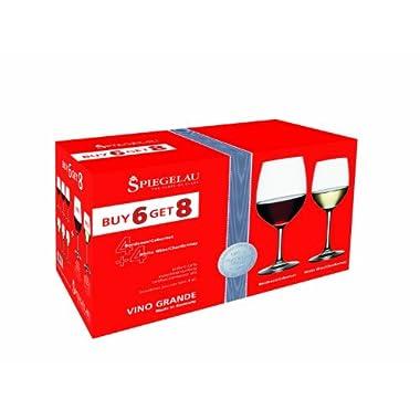 Spiegelau Vino Grande Bordeaux and White Wine Glass Value Pack