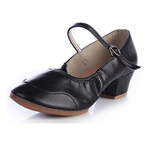 CHNHIRA - Zapatillas de danza de poliuretano para mujer negro