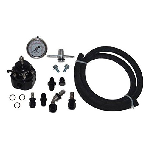 MAP AFPR Fuel Pressure Kit with AEM Regulator & Push Lock Hose for 1995-98 Mitsubishi Eclipse/Eagle Talon 2G -