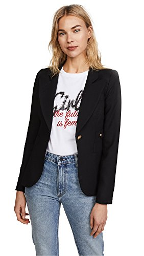 Smythe Wool Coat - SMYTHE Women's Duchess Blazer, Black, 8