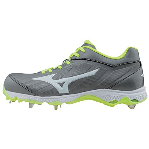 Mizuno Women's 9-Spike Advanced Sweep 3 Metal Softball Cleats - Grey & White (Women's Size 8.5) - Mizuno Womens 9 Spike
