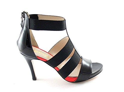 À Noires Melluso Talons Fermée Peinture Sandales De Femme Zip S814 Hauts Nero Chaussures TqnwwUFxX