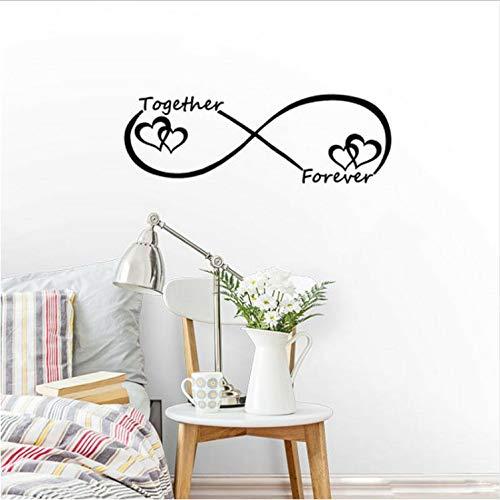 YS753 Personalizado símbolo de Infinito Palabra Amor Pegatinas de ...