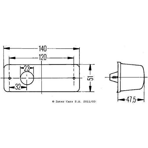 HELLA 2BM 006 692-017 Zusatzblinkleuchte P21W f/ür MB