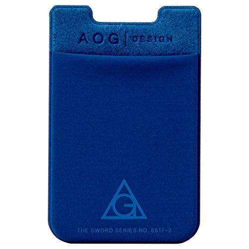 Wall Pockets Blue Peel - AOG DESIGN Ultra Slim Stick On Adhesive Credit Card Wallet, Card Holder for Smartphones (Royal Blue)