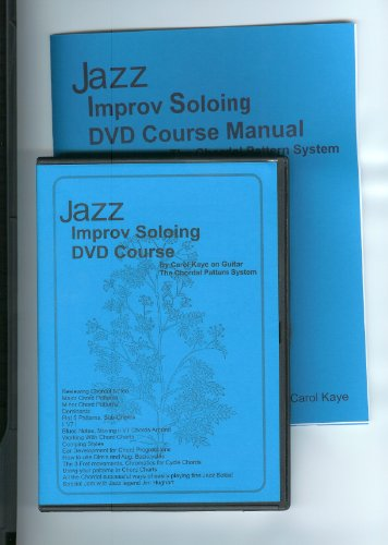 Jazz Improv Soloing DVD Course w/Manual by Carol Kaye on Guitar (bass music also) (w/Manual, finest steps in learning how to play Jazz Improv by Carol Kaye on Guitar (treble & bass music), Pre-Requisite is Jazz Guitar or Jazz Bass, use with Pro's Jazz Phrases book and CD also. Use also (bass) Jazz Improv For Bass book and CD.)
