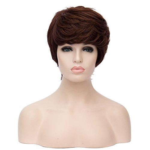 Womens Short Curly Brown Highlight product image