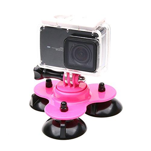 zhuhaitfカメラマウント低角度三角形吸盤車ホルダーSucker for Xiaoyi B0768DPCYJ ピンク