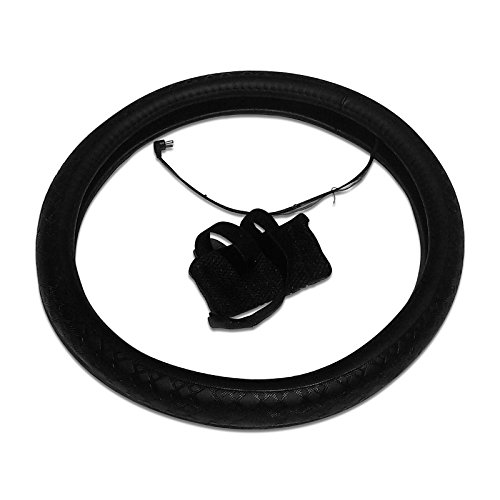 Battery Operated Heated Steering Wheel Cover Half Wheel Heated (Steering Wheel Cover Chargers compare prices)