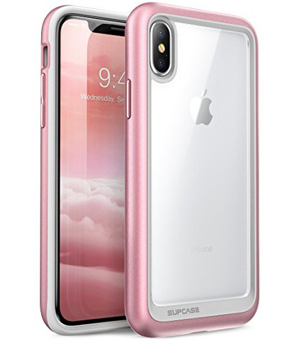 reputable site f2c0f 48a85 SupCase iPhone X Case, Unicorn Beetle Style Premium Hybrid Protective Clear  Case for Apple iPhone X 2017 Release- Rose Gold