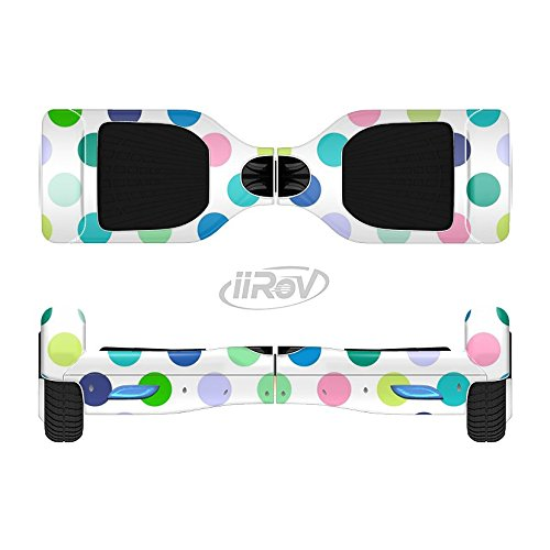 The Fun Colored Vector Polka Dots Full-Body Wrap Skin Kit for the iiRov HoverBoards and other Scooter (HOVERBOARD NOT INCLUDED)