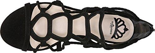 Fergalicious Kayla Donna US 7.5 Nero Sandalo Gladiatore