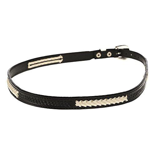 Basketweave Band - Austin Accent Inc Mens Austin Accent Leather/Lace Basketweave Hat Band Black