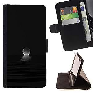 Momo Phone Case / Flip Funda de Cuero Case Cover - Moon Ocean Set Oscuro Negro - Samsung Galaxy S3 III I9300