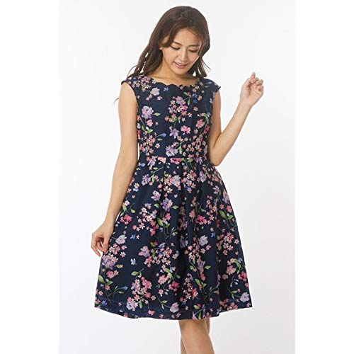 641e567e0515e ローズティアラ(大きいサイズ)(Rose Tiara) スカラネックフラワー刺繍ワンピース