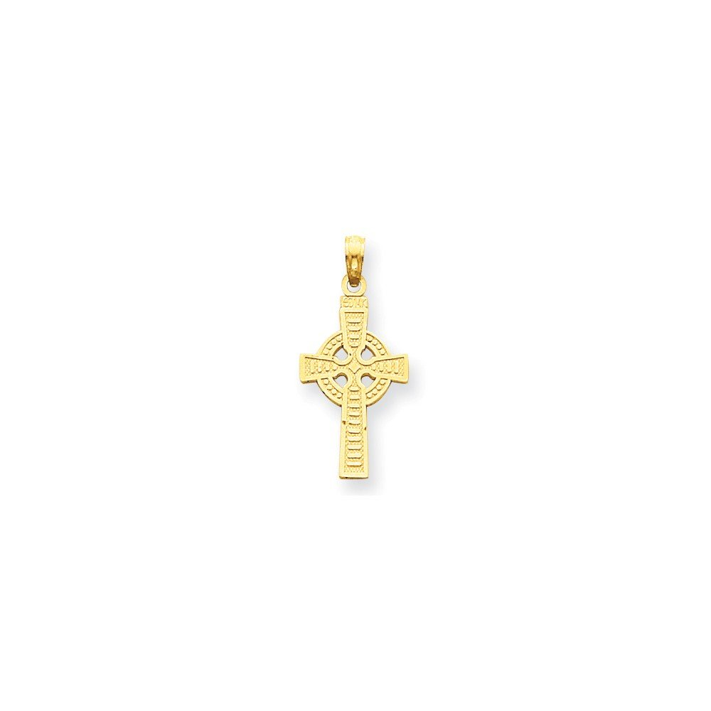14k Reversible God is Love Celtic Cross Pendant