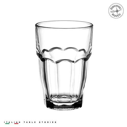 Bormioli Rocco Rock Bar 16-1/4-Ounce Stackable Beverage Glas
