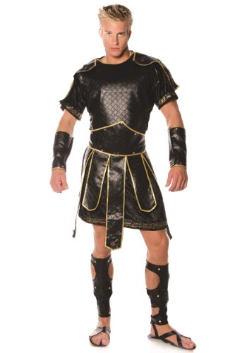 Roman Gladiator Greek Spartan Warrior Halloween Costume One Size Fits Most (up to 46