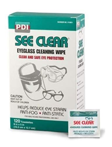 - Anti-Static, Anti-Fog, Anti-Streaking Eye Glasses Cleaning Wipes for Glasses and loupes, Glass and Polycarbonate Lenses, Anti-Reflective, UV and Glare Free Coated Lenses. (1 pk = 120 ct.)