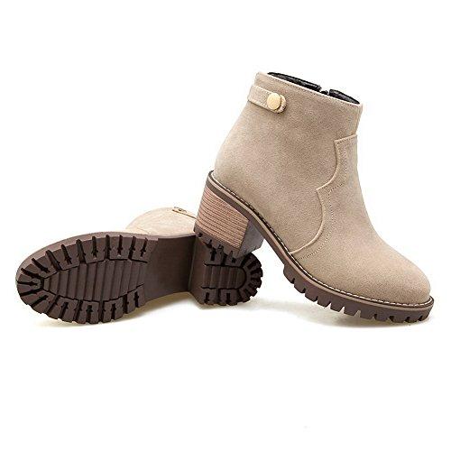 Para Zapatos Beige Mujer Cerrados Adeesu 8Twqpn