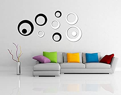 Incredible Gifts 3D Wall Art Stickers For Living Room DecorBlack And White
