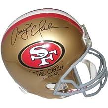 "Dwight Clark signed San Francisco 49ers Full Size Replica TB Helmet ""The Catch"" 1.10.82 - Autographed NFL Helmets"