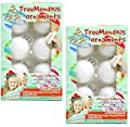 TreeMendous Christmas Tree Ornament Decorating Refill Kit - Includes 12 Blank Ball Ornaments For DIY Craft Activities