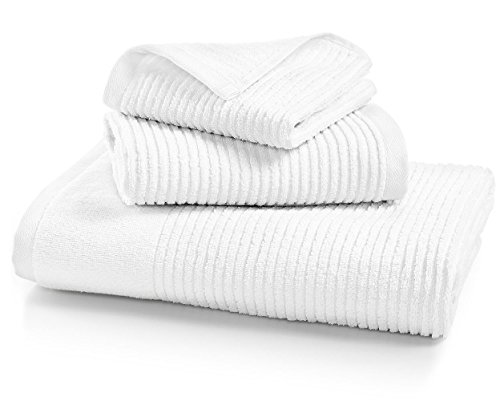 (Martha Stewart Collection Quick Dry Reversible Bath Towel (White))