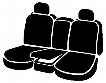 Fia SL68-26 BLK//BLK Custom Fit Front Seat Cover Bucket Seats Leatherette Solid Black