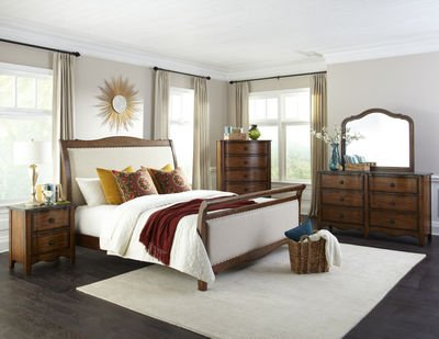 Luxury Upholstered Bedroom Set Collection