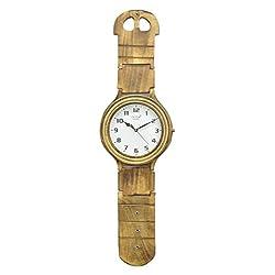 Benzara HRT-75993 Classy Wood Wall Clock