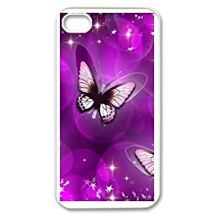 iPhone 4 4s White Phone Case Butterfly Rational Cost-effective Surprise Gift Unique WIDR8611002228