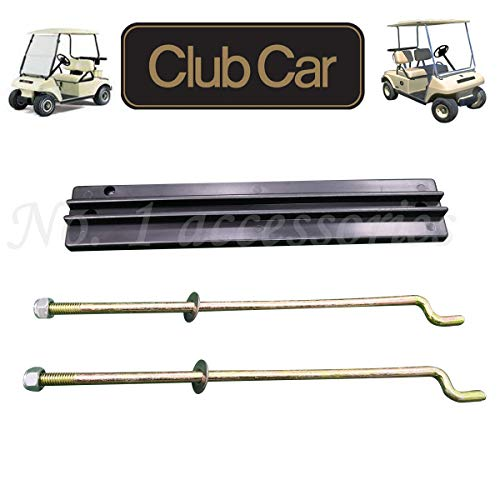 - No. 1 accessories Golf Cart Battery Hold Down Plate, Rods, Washers & Nuts,for Club Car DS and Carryall Electric 1998-2005 (1 Pcs Hold Down Plate and Rod Kit)