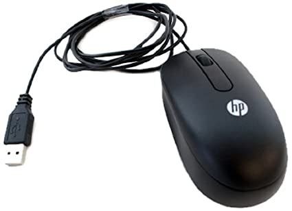 HP 674318-001 USB laser light optical mouse - 2-button, with scroll wheel  and wired USB connector