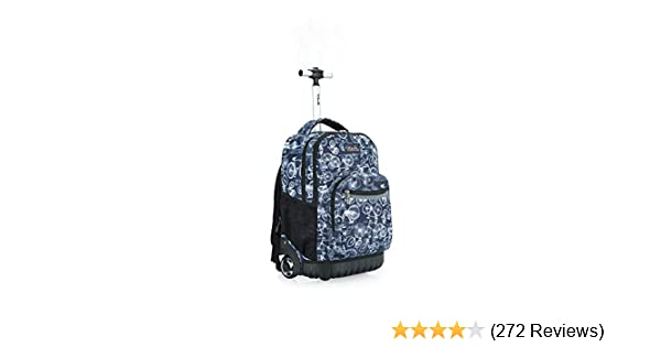 6d080fd87711 Amazon.com  Tilami Rolling Backpack Armor Luggage School Travel Book Laptop  18 Inch Multifunction Wheeled Backpack for Kids and Students (Bicycle)  ...
